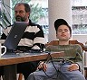 Sportpsychologe Walter beim mentalen Training mit einem Kaderspieler